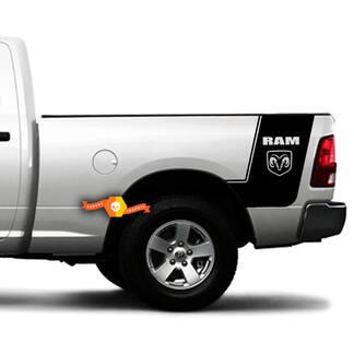 DODGE RAM 1500 2500 RAM RT LARAMIE Bed Vinyl Strepen Truck Custom Decal