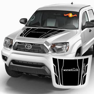 Toyota TACOMA - Berge Motorhaube Streifen Motorhaube Aufkleber Grafiken Vinyl Aufkleber TRD 4x4 Off Road