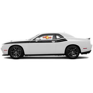2 Dodge Challenger Stripes Dual Decals Vinyl Grafiken 15 16 17 2018 2019 2020 2021