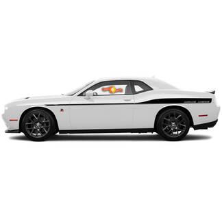 2 Dodge Challenger Stripes Decals Aangepaste Tekst Vinyl Graphics 15 16 17 2018 2019 2020 2021