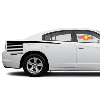2 voor 2011-2014 Dodge Charger Achter Kwart Hockey Strobe Stick Side Strobe Stripes Decals