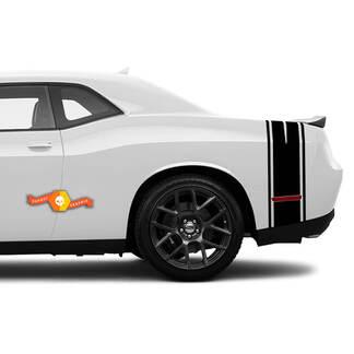 Dodge Challenger Heck-Kofferraum-Viertel-Panel-Seitenstreifen Aufkleber für 2008-2021