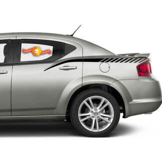 Dodge Avenger Side-Strobe-Streifen-Hinterteiltafel-Rallye-Abziehbilder für 2008-2014