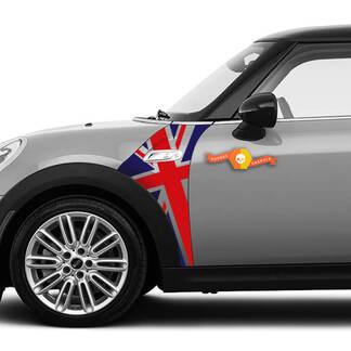 A Panel Mini Cooper S model Union Jack UK flag fender graphic decal sticker