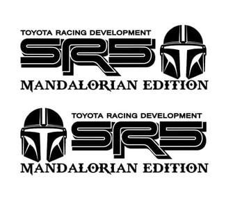 Paar SR5 Mandalorianische Ausgabe Off Road Racing Vinyl Aufkleber Aufkleber Für TOYOTA TACOMA TUNDRA