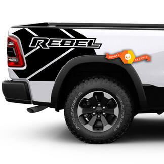 Dodge RAM rebel grunge logo truck bed vinyl sticker grafisch