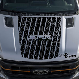 Ford F-150 F150 Outline Map hood graphics side stripe decal sticker