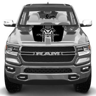 Nieuwe Dodge Ram Head Rebel TRX Hood Truck Vinyl Decal Grafisch