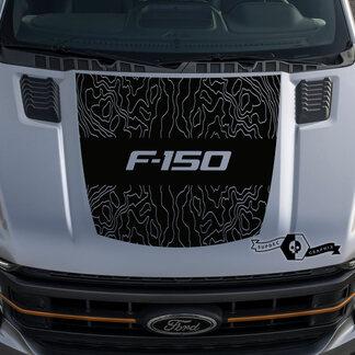 Nieuwe Ford F-150 F150 Overzicht Kaart Hood Graphics Side Stripe Decal Sticker