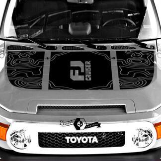 Neue Toyota FJ Cruiser Logo Hood Abziehbild Contour Kartenaufkleber