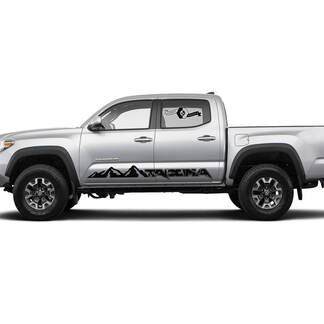Pair Stripes for Tacoma Side Rocker Mountains Raptor Style Panel Vinyl Stickers Decal fit to Toyota Tacoma