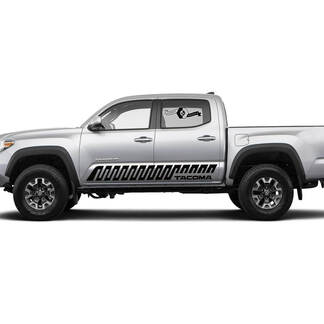 Pair Stripes for Tacoma Side Rocker Panel Crankle Lines Style Vinyl Stickers Decal fit to Toyota Tacoma