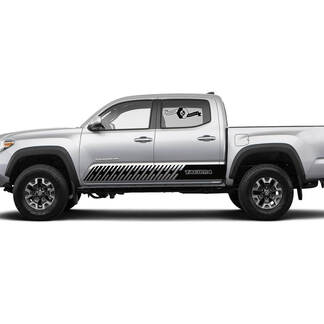 Pair Stripes for Tacoma Side Rocker Panel Snake Lines Style Vinyl Stickers Decal fit to Toyota Tacoma