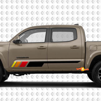 Pair Vintage Stripes for Tacoma Tundra Side Rocker Panel Vinyl Stickers Decal fit to Toyota Tacoma TRD Off Road Pro Sport