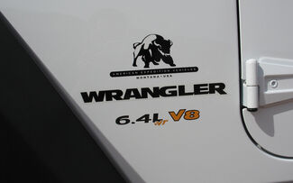 2 - Jeep Wrangler 6,4 l vVT V8 CJ TJ YK JK Vinyl-Aufkleber