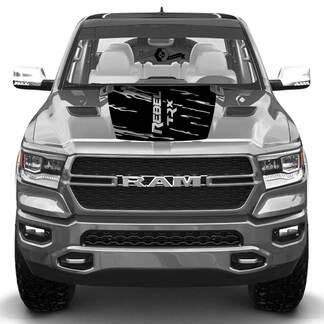 Nieuwe Hood Dodge Ram Head Rebel TRX Vernietigde Truck Vinyl Decal Grafisch