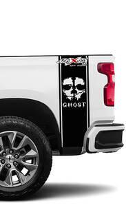 2 Chevrolet Silverado 4x4 Off-Road Ghost Edition Vinyl Bett Side Streifen Aufkleber Aufkleber Grafiken