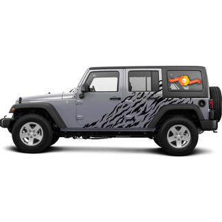 2x Side Door Splash Sticker Decal Vinyl for Jeep Wrangler 2016-2021