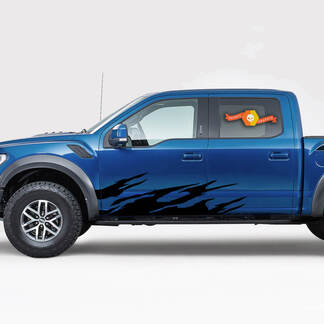 Decal Sticker Graphic Stripes Brush Side voor Ford Supercab F150 2018 2019 2020