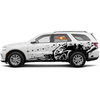 Nieuwe Dodge SRT Durango Hellcat Star Style Splash Grunge Stripes Kit Vinyl Decal Grafisch