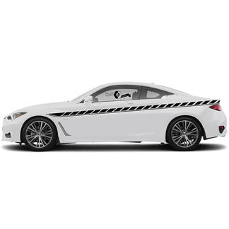 Pair Decal Sticker Side door  Accent Line Classic Stripe for INFINITI G60