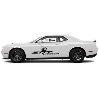 SRT Powered Scat Pack Splash Decals für Dodge Challenger oder Ladegerät Side Vinyl Aufkleber Aufkleber