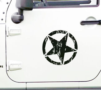 2 Jeep Star Black Ops Oscar Mike Wrangler YK JK Sticker Decal