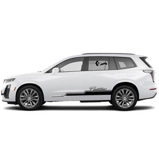 2021 Cadillac XT6 Side SUV Vinyl Decals Stickers