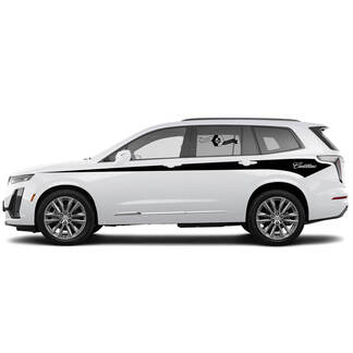 2021 Cadillac XT6 Side Pin Streifen SUV Vinylaufkleber Aufkleber