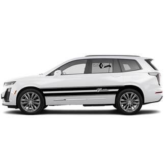 2021 Cadillac XT6 Side Große Streifen SUV Vinylaufkleber Aufkleber