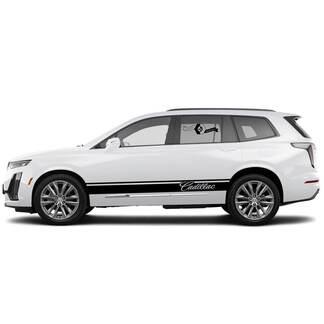 2021 Cadillac XT6 Side Wippe Panel Streifen SUV Vinyl Aufkleber Aufkleber
