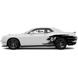 Scat Pack Splash Decals für Dodge Challenger oder Ladegerät Side Vinyl Aufkleber Aufkleber # 1
