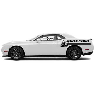 Scat-Pack-Line Seite Abziehbilder für Dodge Challenger oder Charger Vinyl-Abziehbild-Aufkleber