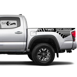 TRD 4x4 Off-Road Lines BedSide Side Vinyl Stickers Decal fit to Toyota Tacoma Tundra all years