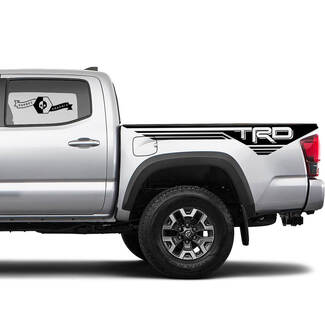TRD 4x4 Off-Road Lines BedSide Side Vinyl Stickers Decal fit to Toyota Tacoma Tundra all years #22