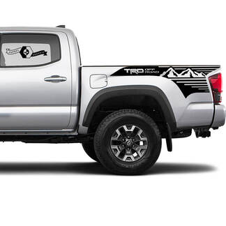 TRD 4x4 Off-Road Mountains BedSide Side Vinyl Stickers Decal fit to Toyota Tacoma Tundra all years #22