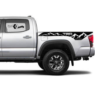 TRD 4x4 Off-Road Mountains BedSide Side Vinyl Stickers Decal fit to Toyota Tacoma Tundra all years #11