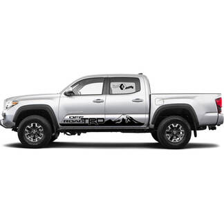 TRD off road Mountains Rocker Panel BedSide Side Vinyl Stickers Decal fit to Toyota Tacoma Tundra all years