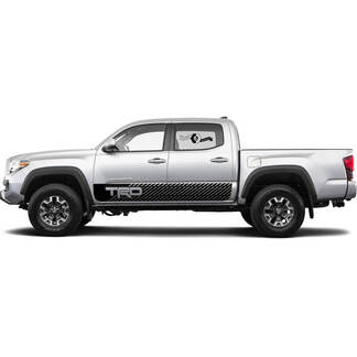 TRD off road Lines Rocker Panel BedSide Side Vinyl Stickers Decal fit to Toyota Tacoma Tundra all years