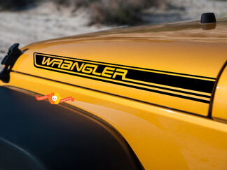 2-Jeep Wrangler Rubicon CJ TJ YK JK XJ Vinyl Sticker Decal
