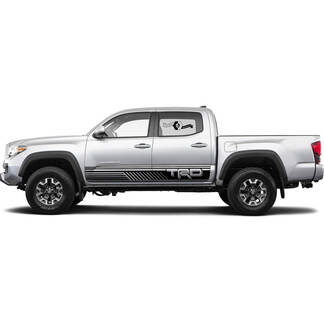 TRD off road Lines Rocker Panel BedSide Side Vinyl Stickers Decal fit to Toyota Tacoma Tundra all years 3