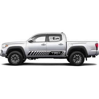 TRD off road leaves Rocker Panel BedSide Side Vinyl Stickers Decal fit to Toyota Tacoma Tundra all years 4