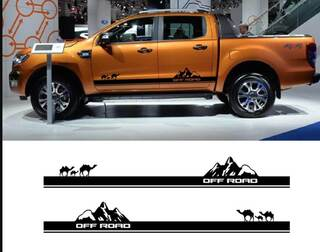 TRD off road Mountains Doors Sahara desert Side Vinyl Stickers Decal fit to Toyota Tacoma Tundra all years