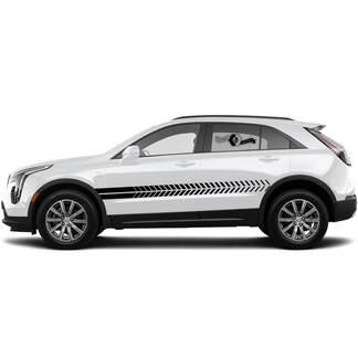 2 neue Aufklebertür abfallende Linien Aufkleberlinien Streifen für Cadillac XT4