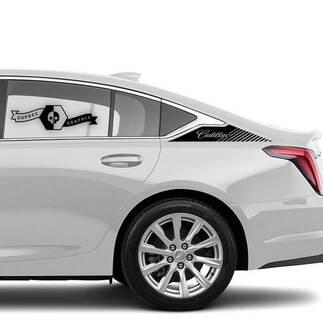 2 Neuer Aufkleber Aufkleber Betonen Sie Bett Vinylaufkleber für Cadillac CT5