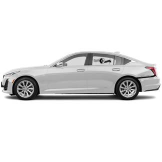 2 Neuer Aufkleber Aufkleber betont Stoßstangenlinie Vinylaufkleber für Cadillac CT5