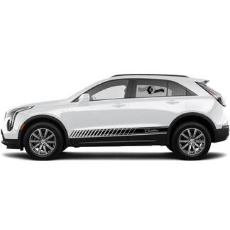 2 neue Aufkleber-Rocker-Panel-Aufkleber-Linien schräg Linien klassischer Streifen für Cadillac XT4