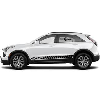 2 neue Aufkleber-Rocker-Panel-Aufkleber-Linien Split Linien Klassischer Streifen für Cadillac XT4