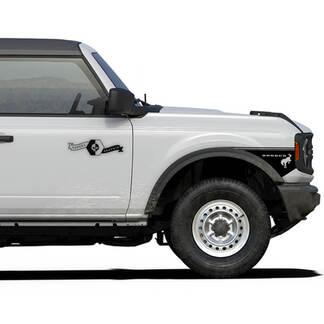 Paar neuer Retro-Aufkleber-Vinyl-Seitenfender stilvoller Aufkleber-Streifen für Ford Bronco 2-tür