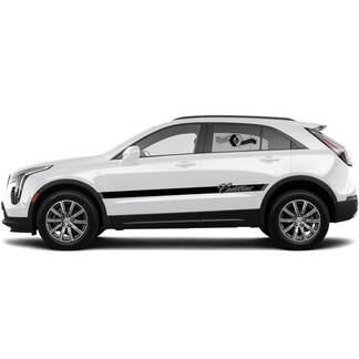 2 neue Aufkleber-Türen Klassische Center-Aufkleber-Linien Klassischer Streifen für Cadillac XT4